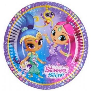 Shimmer & Shine - Piatto Carta 18 cm.- 8 pz.