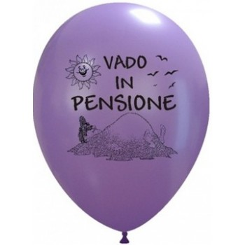 Palloncino in Lattice Rotondo 30 cm. Stampa Vado in Pensione Assortiti