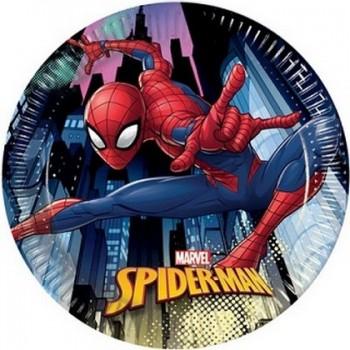Spider-Man - Piatto Carta 20 cm. - 8 pz.