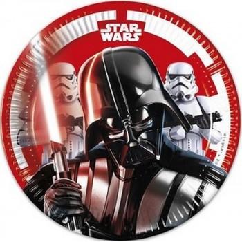 Star Wars - Piatto Carta 19,5 cm. - 8 pz.