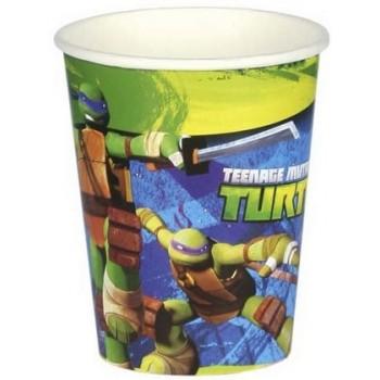 Tartarughe Ninja - Bicchiere Carta 266 ml. - 8 pz.