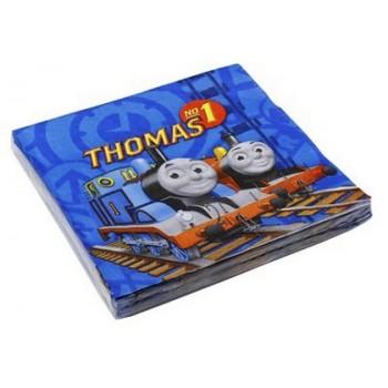 Trenino Thomas - Tovagliolo 33x33 cm. - 20 pz.