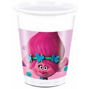 Trolls - Bicchiere Plastica 200 ml. - 8 pz.
