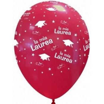 Palloncino in Lattice Rotondo 30 cm. Stampa Laurea
