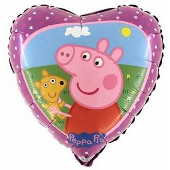Palloncino Mylar 45 cm. Peppa Pig Teddy