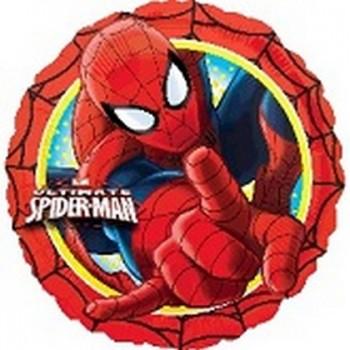 Palloncino Mylar 45 cm. Spider-Man Marvel Red Boarder