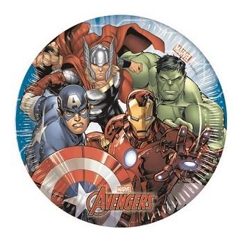 Avengers - Piatto Carta - 20 cm. - 8 pz.