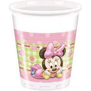 Minnie Baby - Bicchiere Plastica 200 ml. - 8 pz.