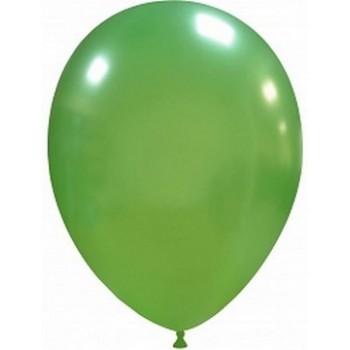 Palloncino in Lattice Rotondo 30 cm. Verde Scuro Metallizzato