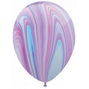 Palloncino in Lattice Rotondo 30 cm. Stampa Marmorizzato colore Fashion