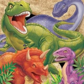 Dinosaur - Tovagliolo 33x33 cm. - 16 pz.