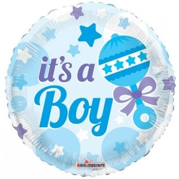 Palloncino Mylar 45 cm. Boy - Baby Rattle Boy