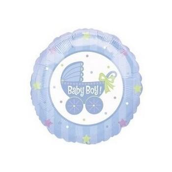 Palloncino Mylar Mini Shape 35 cm. Boy - Baby Boy