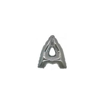 Palloncino Mylar Lettera Micro A - 17 cm. Argento