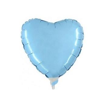 Palloncino Mylar Mini Shape 23 cm. Cuore Azzurro