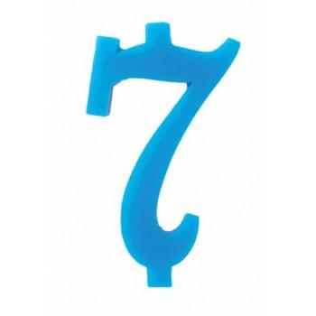 Candela Blu 7 con supporto H. 7 cm.