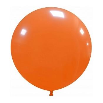 Palloncino in Lattice Rotondo 48 cm. Arancione