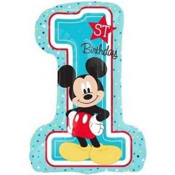 Palloncino Mylar Super Shape 71 cm. Mickey 1° Birthday
