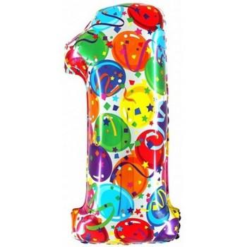 Palloncino Mylar Numero Maxi Multicolor 1 - 100 cm.
