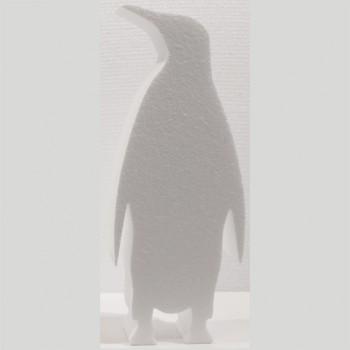 Polistirolo - Sagoma Pinguino Decorato autoportante personalizzabile profondità 5 cm. max - L.20 cm. max - H.40 cm.