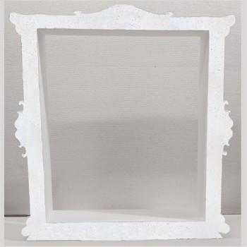 Polistirolo - Cornice Selfie Bianca autoportante personalizzabile profondità 7,5 cm. max - L.60 cm. max - H.55 cm.