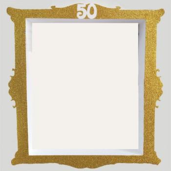 Polistirolo - Cornice Selfie Glitter autoportante personalizzabile profondità 7,5 cm. max - L.60 cm. max - H.55 cm.