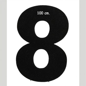 Polistirolo - Lettera o Numero singolo Glitter, autoportante personalizzabile profondità 10 cm. L.60 cm. H.100 cm.