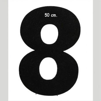 Polistirolo - Lettera o Numero singolo Glitter, autoportante personalizzabile profondità 5 cm. L.25 cm. H.50 cm.