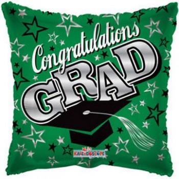 Palloncino Mylar 45 cm. Congrats Grad Green