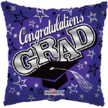 Palloncino Mylar 45 cm. Congrats Grad Purple