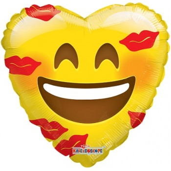 Palloncino Mylar 45 cm. Smiley With Kisses