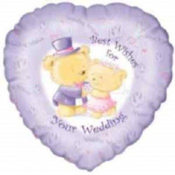 Palloncino Mylar 45 cm. Best Wishes Your Wedding Day Congratulations