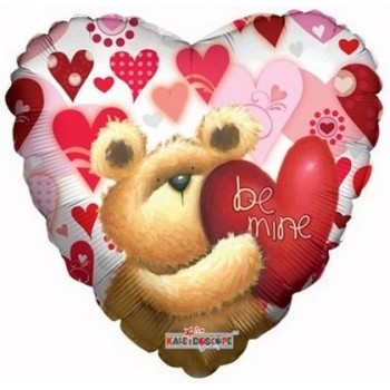 Palloncino Mylar 45 cm. Huggable Bear Be Mine