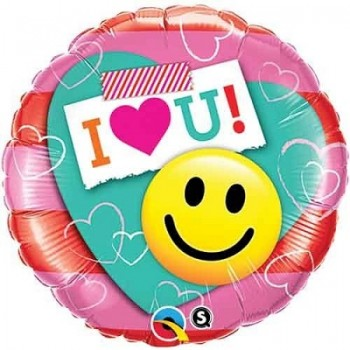 Palloncino Mylar 45 cm. I Heart You Smiley