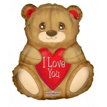 Palloncino Mylar 45 cm. I Love You Bear Shape