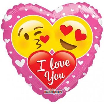 Palloncino Mylar 45 cm. I Love You Couple Of Smilies