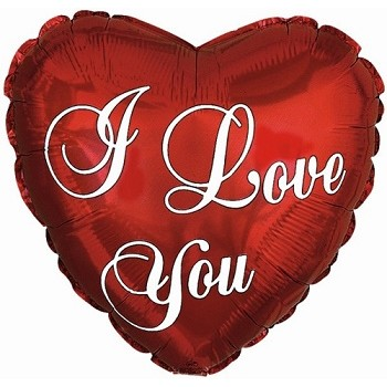Palloncino Mylar 45 cm. I Love You Essential Script