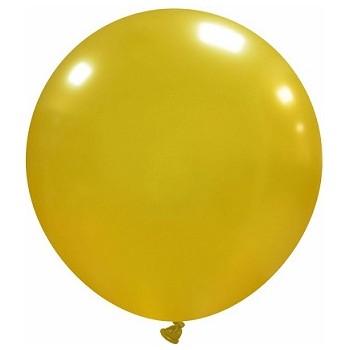 Palloncino in Lattice Rotondo 60 cm. Oro Metallizzato