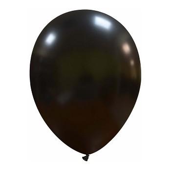 Palloncino in Lattice Rotondo 30 cm. Nero Metallizzato