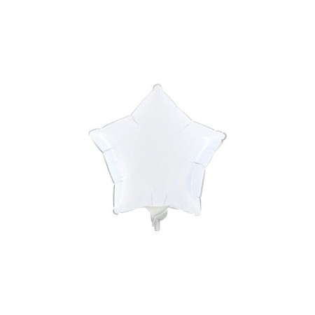 Palloncino Mylar Mini Shape 23 cm. Stella Bianca