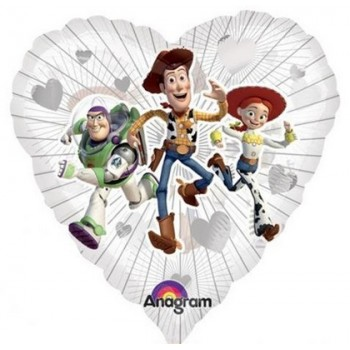 Palloncino Mylar 45 cm. Toy Story Movie Clearly Love