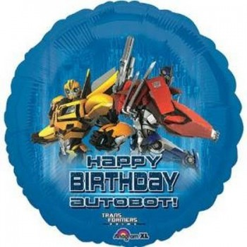 Palloncino Mylar 45 cm. Transformers Happy Birthday Autobot!