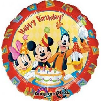 Palloncino Mylar 45 cm. Mickey & Friends Happy Birthday