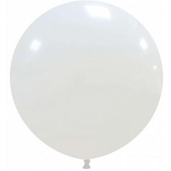 Palloncino in Lattice Rotondo 80 cm. Bianco - Round