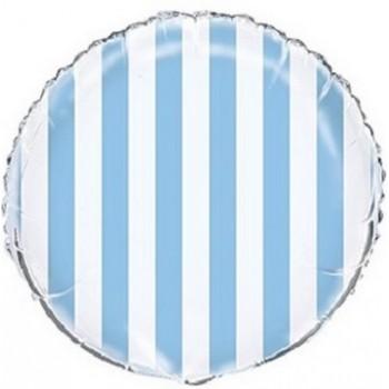Palloncino Mylar 45 cm. R. Strisce Blue