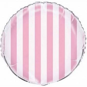 Palloncino Mylar 45 cm. R. Strisce Lovely Pink