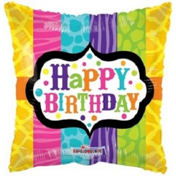 Palloncino Mylar 45 cm. Q - Animal Print Birthday