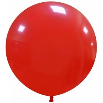 Palloncino in Lattice Rotondo 80 cm. Rosso - Round