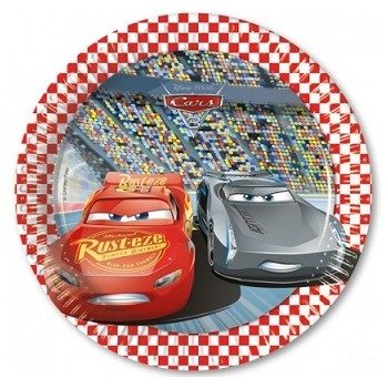 Cars 3 - Piatto Carta 19,5 cm - 8 pz.