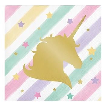 Unicorno - Tovagliolo 25x25 cm. - 16 pz.